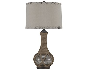 Rope Light Brown Table Lamp