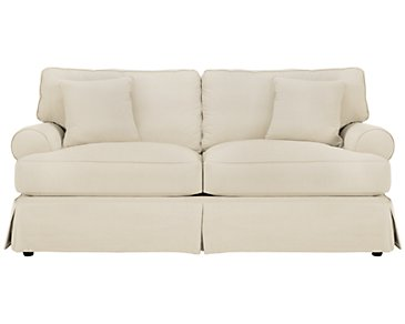 Levi Beige Cotton Down Sofa