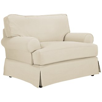 Levi Beige Cotton Down Chair