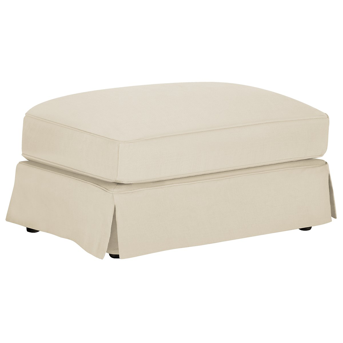 Levi Beige Cotton Down Ottoman