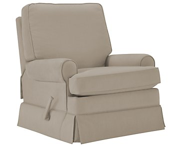 Levi Khaki Cotton Glider Recliner