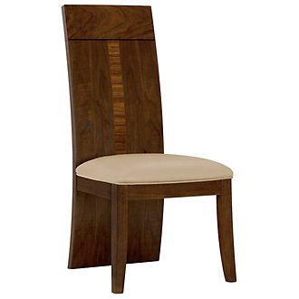 Milan Mid Tone Microfiber Wood Side Chair