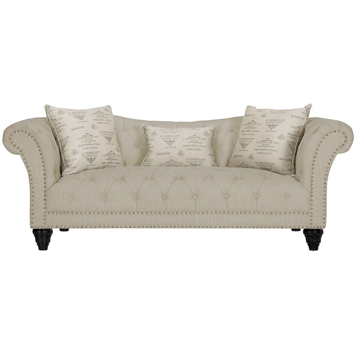 city furniture hutton3 lt taupe linen sofa. Black Bedroom Furniture Sets. Home Design Ideas