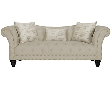 Hutton3 Light Taupe Linen Sofa