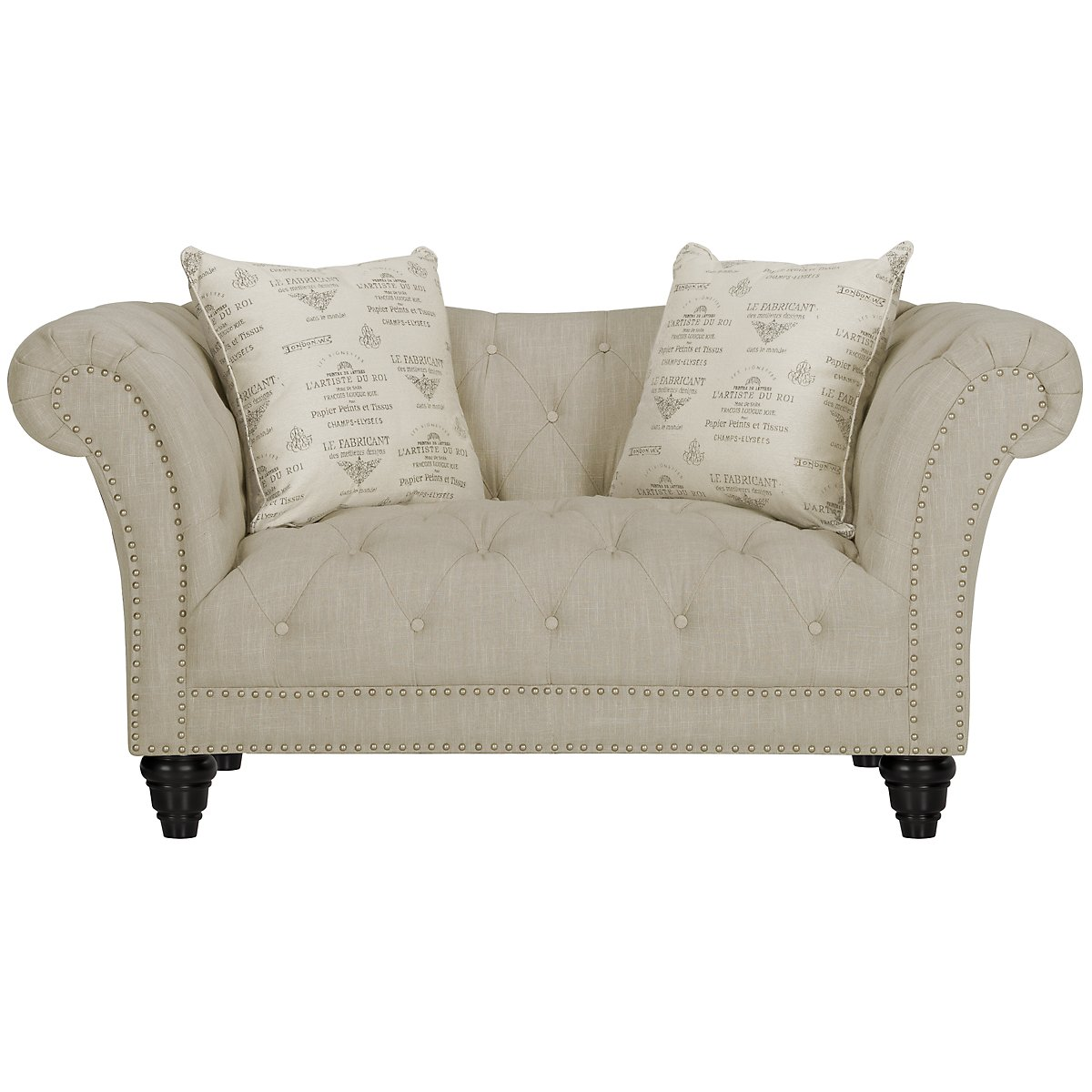City Furniture Hutton3 Light Taupe Linen Living Room