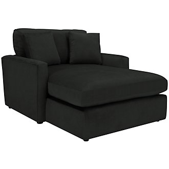 Tara2 Dark Gray Microfiber Chaise