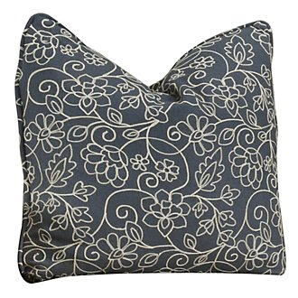 Bloom Multi Fabric Square Accent Pillow