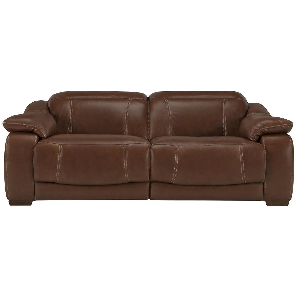 Orion Medium Brown Leather & Bonded Leather Power Reclining Loveseat