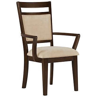 Andora Mid Tone Upholstered Arm Chair