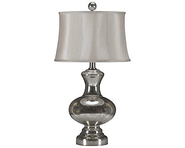 Mercury Light Brown Table Lamp