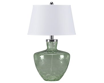 Cascade Light Green Table Lamp