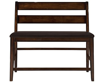 "Mango2 Dark Tone 24"" High Dining Bench"
