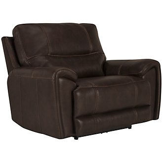 Nico Dk Brown Microfiber Power Recliner
