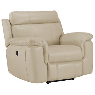Gamma Beige Microfiber Power Recliner