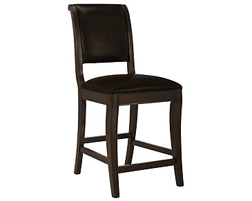 "Belmont Dark Tone 24"" Leather Barstool"