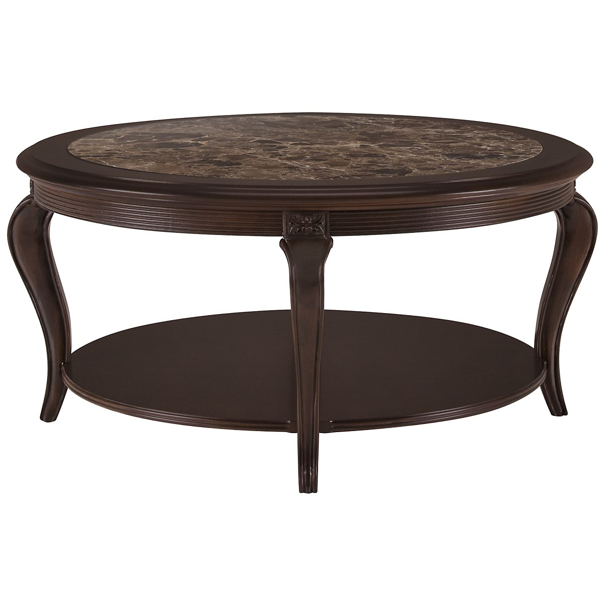 Belmont Dark Tone Marble Round Coffee Table