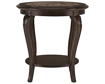Belmont Dark Tone Large Round End Table