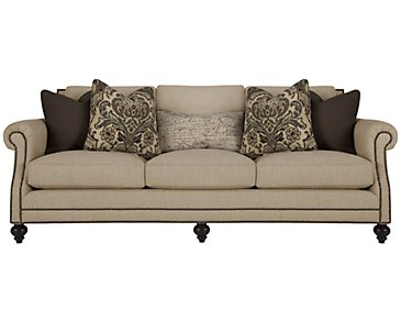 Brae Beige Fabric Sofa