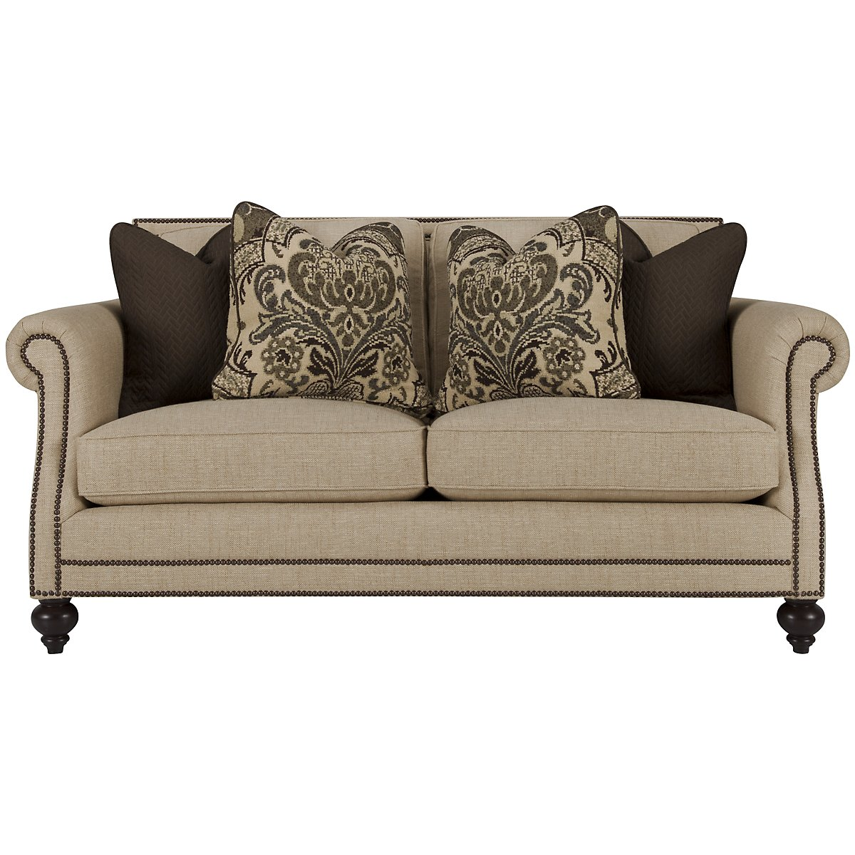 Brae Beige Fabric Loveseat