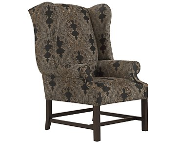 Wentworth Multicolored Fabric Accent Chair