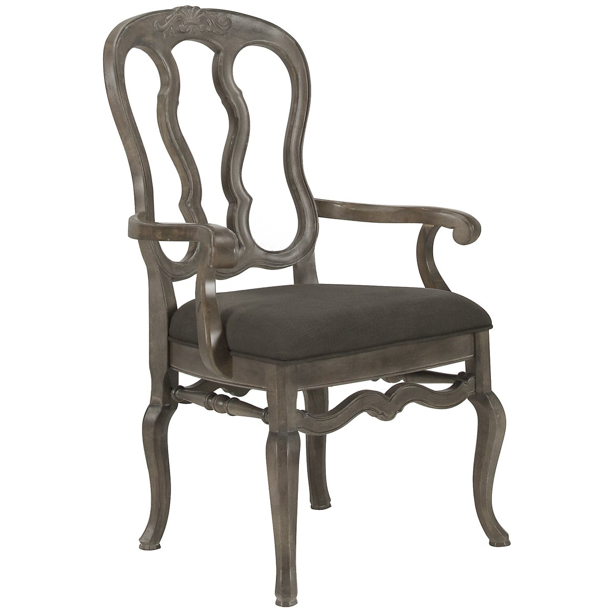 Belgian Oak Light Tone Wood Arm Chair