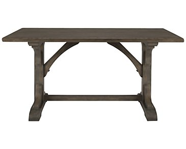 Belgian Oak Light Tone High Dining Table