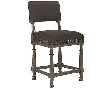 "Belgian Oak Light Tone 24"" Upholstered Barstool"