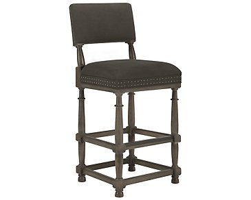 "Belgian Oak Light Tone 30"" Upholstered Barstool"