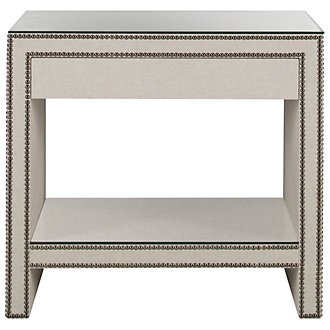 Weston Lt Beige Linen Nightstand