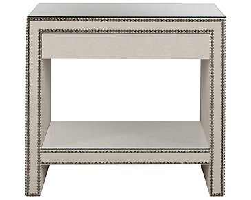 Weston Light Beige Linen Nightstand