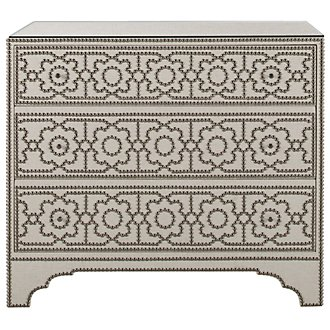 Cabrillo Lt Beige Linen Accent Chest