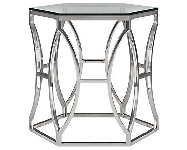 Argent Glass End Table
