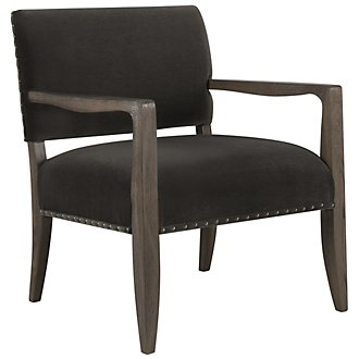 Empire Dk Gray Fabric Accent Chair