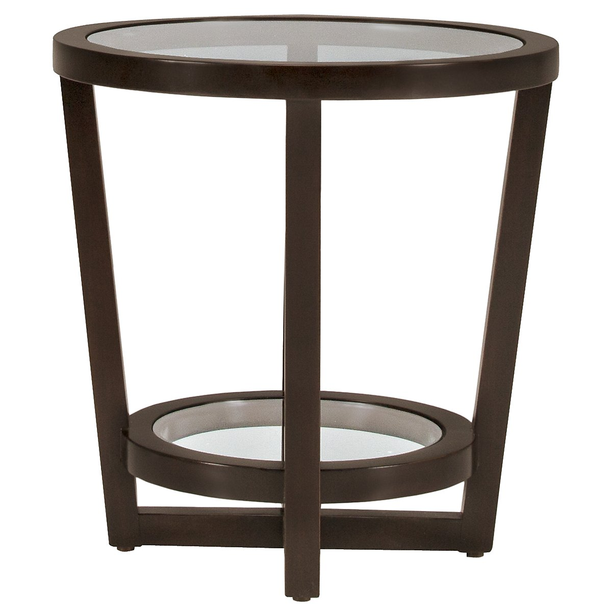 Zola Dark Tone Glass Round End Table