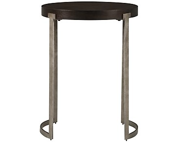 Mercer Dark Tone Round End Table
