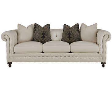 Riviera Light Beige Fabric Small Sofa