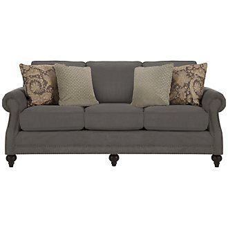 Product Image: Chelsy Dk Gray Microfiber Sofa