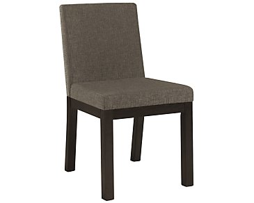 Tocara Dark Gray Upholstered Side Chair