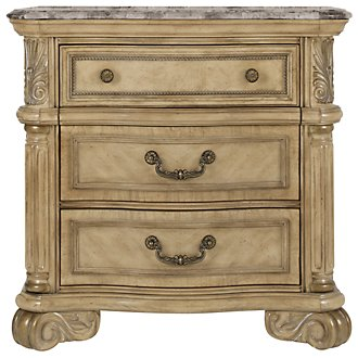 Regal Light Tone Marble Nightstand