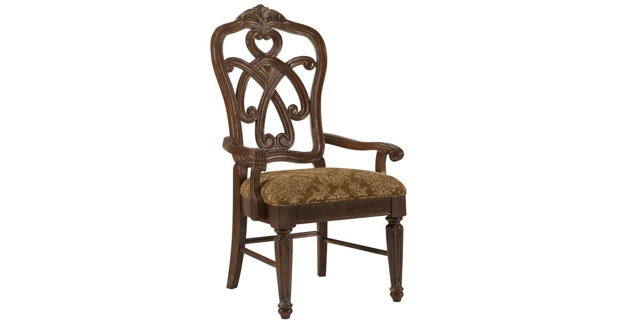 City Furniture Regal Dark Tone Wood Arm Chair