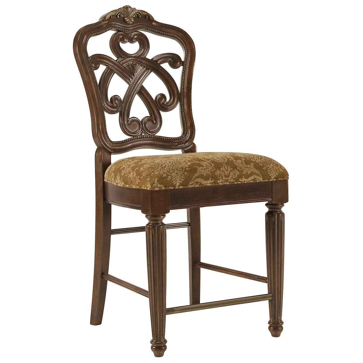"Regal Dark Tone 24"" Wood Barstool"