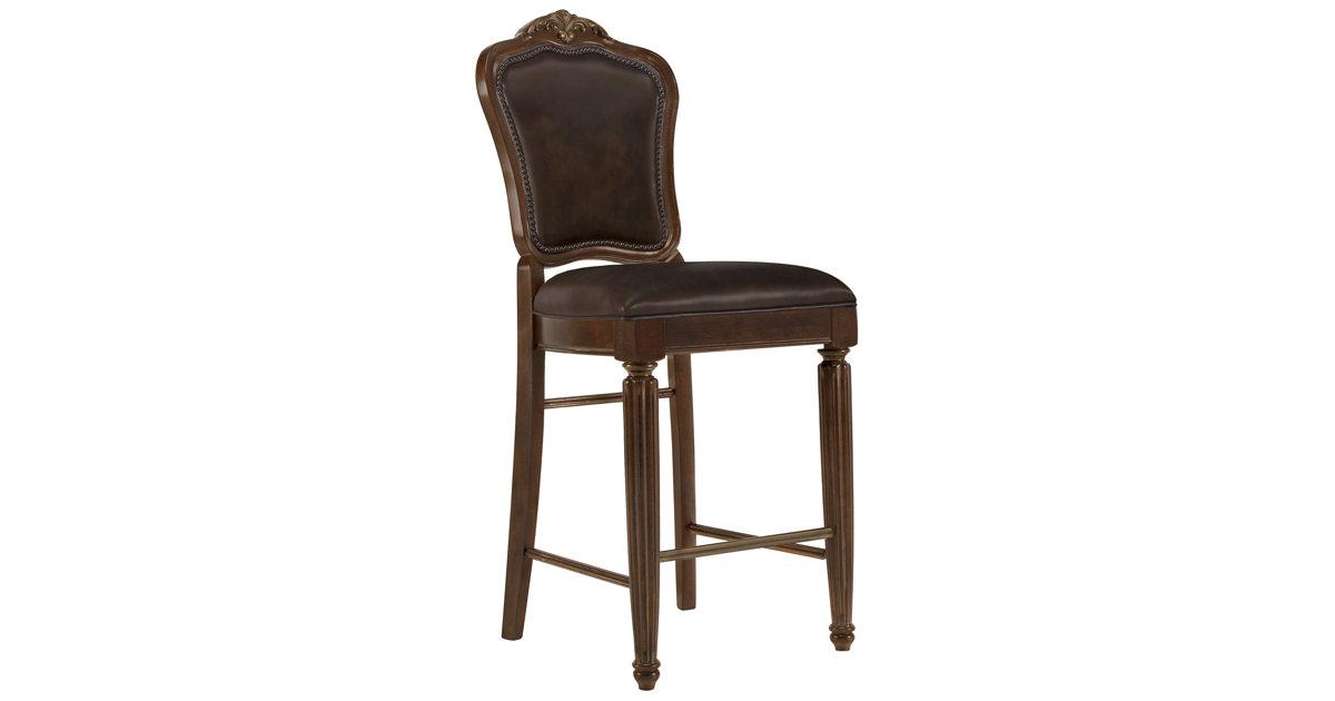 "City Furniture Regal Dark Tone 30"" Leather Barstool"