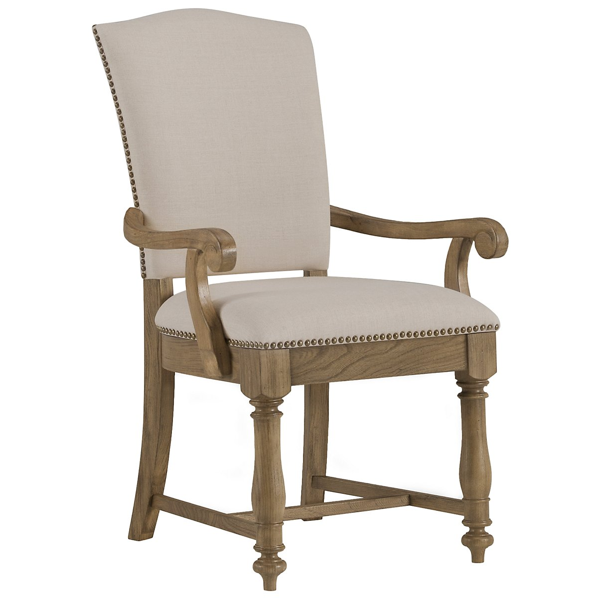 Coventry Light Tone Upholstered Arm Chair