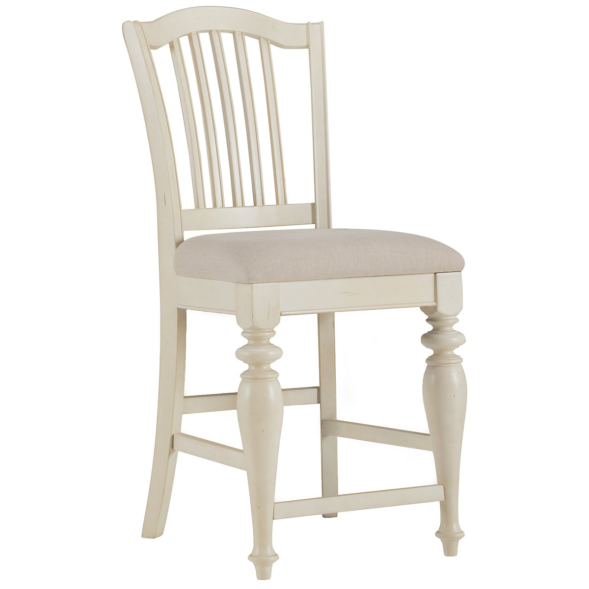 "Coventry White 24"" Wood Barstool"