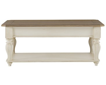 Coventry Two-Tone Lift-Top Rectangular Coffee Table