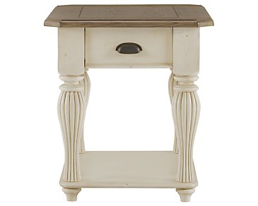 Coventry Two-Tone Large End Table