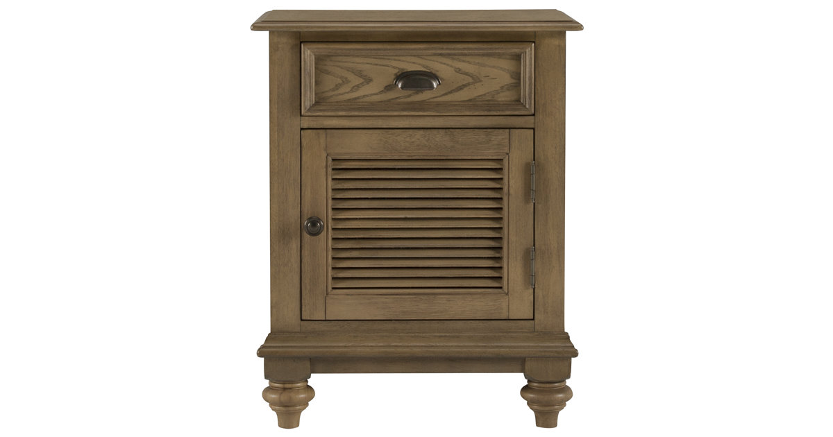 City Furniture Coventry Light Tone Door Nightstand