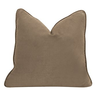 Express3 Lt Brown Microfiber Square Accent Pillow