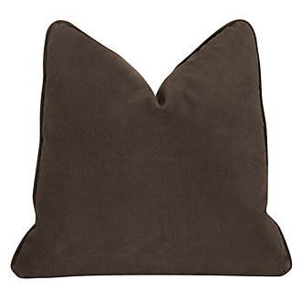 Express3 Dk Brown Microfiber Square Accent Pillow