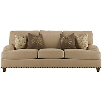Product Image: Breezy Dk Beige Fabric Sofa